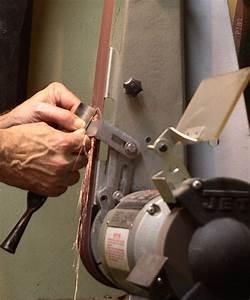 Grinding using a Belt Sander
