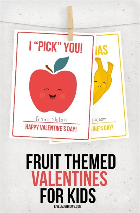Fruit Valentines for Kids - Live Laugh Rowe