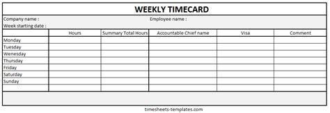 timecard hours weekly timecard vertola