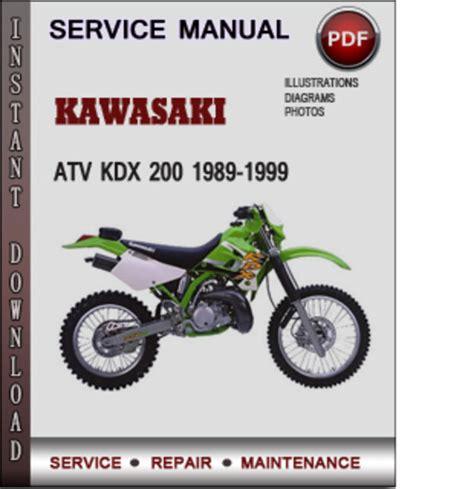 1989 1994 kawasaki kdx 200 service repair workshop manual download kawasaki atv kdx 200 1989 1999 factory service repair manual downlo