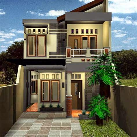 desain rumah minimalis  lantai  lahan sempit
