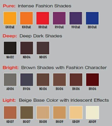 elumen color chart elumen color chart goldwell colors color