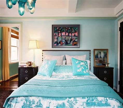 turquoise paint colors bedroom turquoise upholstered headboard eclectic bedroom