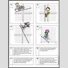 Finding Slope From Tables, Graphs And Points Practice Worksheet Tpt
