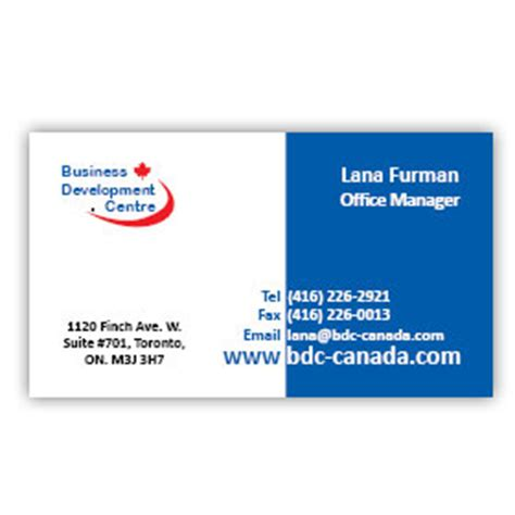 Business Cards In Canada Image Collections  Card Design