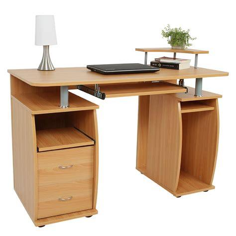 cassettiera da scrivania scrivania con cassettiera makalu in color faggio con