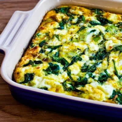 spinach casserole with cottage cheese kalyn s kitchen 174 low carb breakfast casserole with