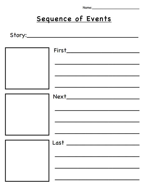 sequence of events pdf classroom ideas
