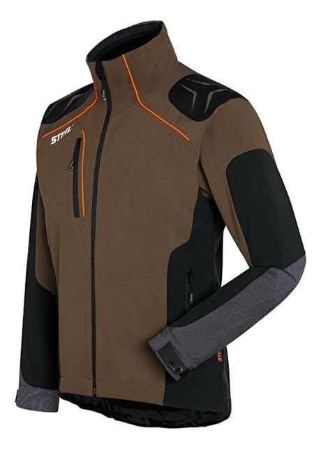 advance x shell jacket peat black designed exclusively for stihl by schoeffel