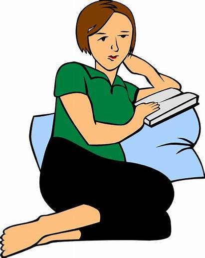 Reading Clipart Clip Adult Pillow Woman Cliparts