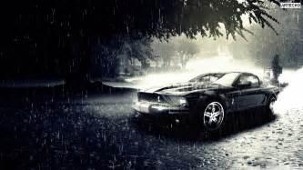 ford mustang car in rain hd wallpaper stylishhdwallpapers