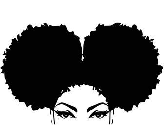 A lot of free vector art and graphics ideal for your designs. Afro Woman svg Queen Blessed Vibes Afro Hair Beautiful ...