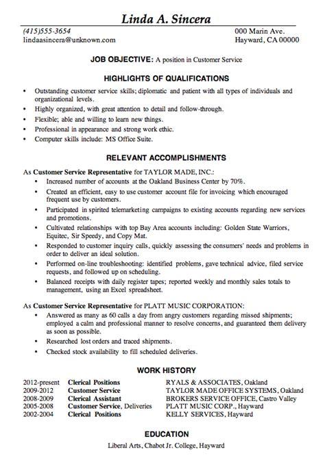 customer service cv resume sample customer service
