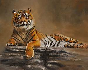 Sumatran Tiger Painting by Abhijit Jiwa