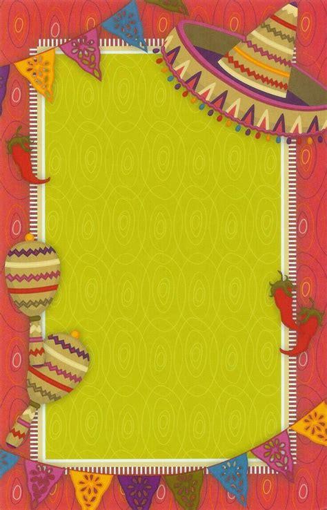poster  notas  invitacion de fiesta mexicana