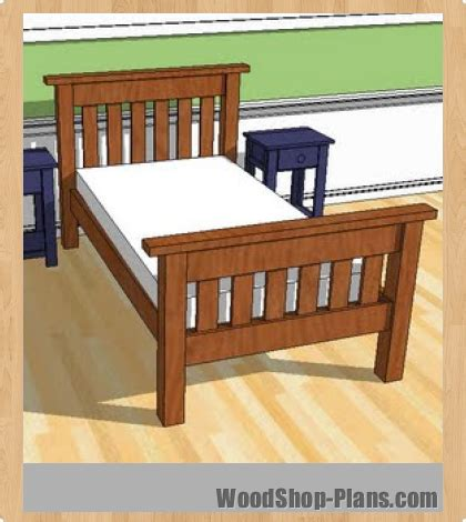 twin bed woodworking plans woodshop plans