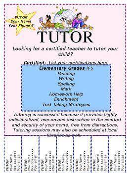 image result   template  tutoring flyer