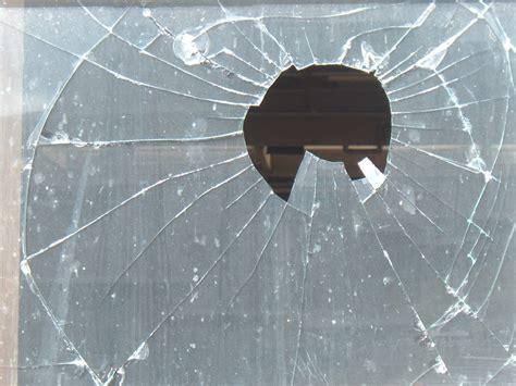 hole  shattered glass pane
