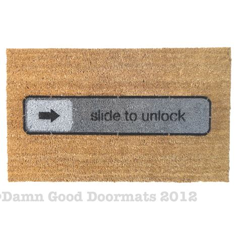 Slide To Unlock Doormat by Top Doormats Of 2012 Doormats