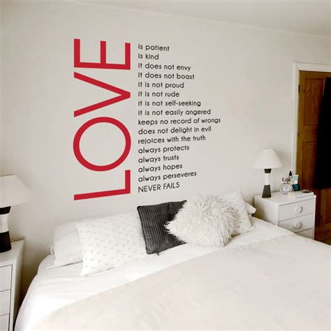 Love Is Patient Wall Quote Decal