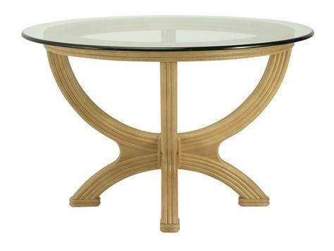 Table rotin avec plateau verre Brin d'Ouest