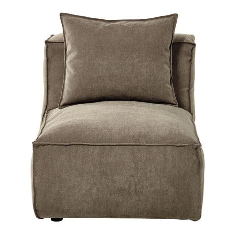 canapé chauffeuse chauffeuse de canapé modulable en tissu taupe chiné rubens