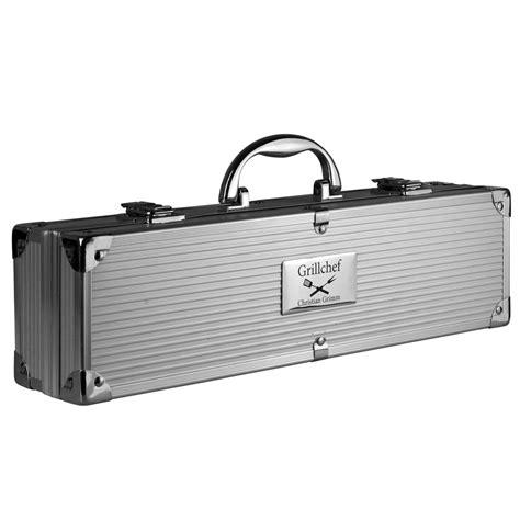 grillbesteck mit gravur grillkoffer bbq koffer grillbesteck mit gravur 3 koffergr 246 223 en