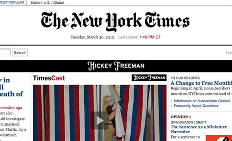 New York Times To Cut Free Online Article Allowance By