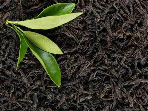 tea leaves top view high quality food images