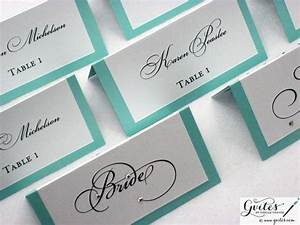 tiffany blue place cards double sided wedding place With double sided place card template