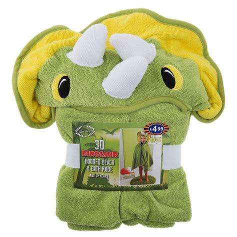 kids hooded beach bath robe dinosaur beach towels