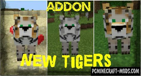 mobs tigers minecraft pe bedrock mod addon    pc java mods