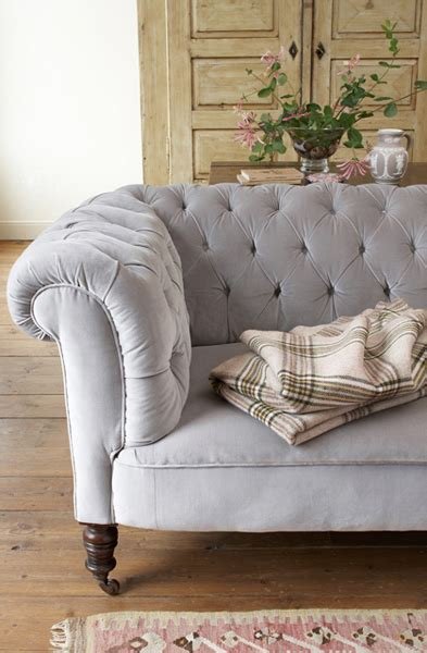 Tufted Velvet Sofa Gray by Jodie Design Tufted Furniture