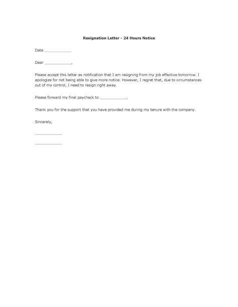 polite resignation letter format