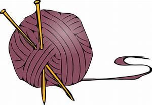 Knitting Yarn Needles 2 Clip Art at Clker.com - vector ...