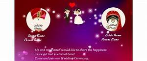 Free indian invitation cards maker and online invitations for Wedding invitation animation maker