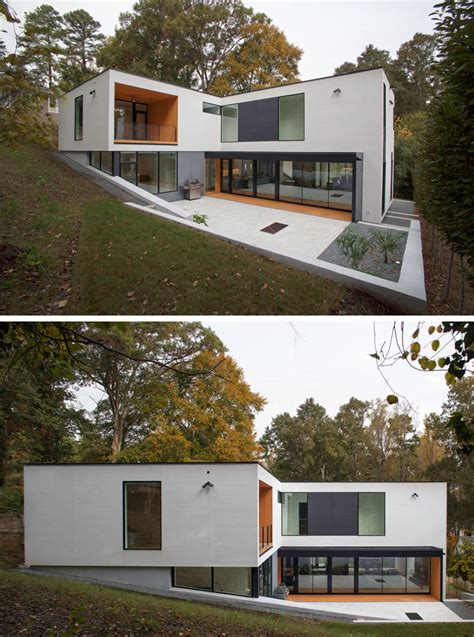 Choose from a variety of colors like white, black or gray, as well as popular upholstery like √ simple minimalist yet charming house fence design ideas. A New Contemporary Home In The Hills Of North Carolina | CONTEMPORIST