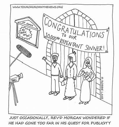 Church Cartoons Funny Forgiveness Anger Vicar Illustrations