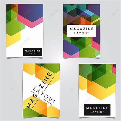 Magazine Layout Template Vector Abstract Designs Revista
