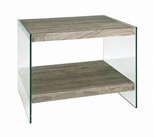 Table Basse Chene Gris : table basse nina en verre et chene gris inside75 ~ Teatrodelosmanantiales.com Idées de Décoration