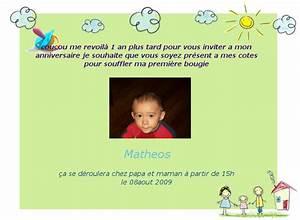 Texte Anniversaire 1 An Garçon : texte pour carte d 39 invitation anniversaire 1 an cool ~ Melissatoandfro.com Idées de Décoration