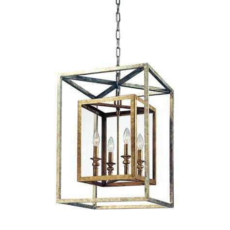 silver lantern pendant light troy lighting morgan 4 light gold silver leaf pendant