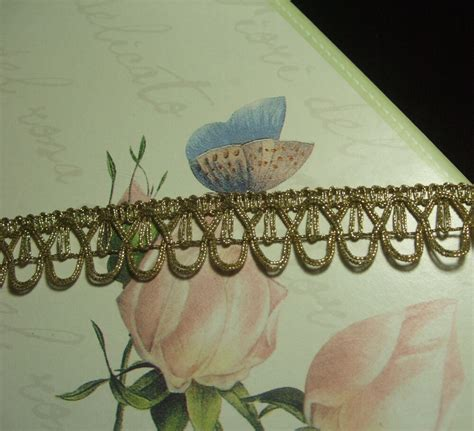 Antique Vintage Gold Metallic Lace Metal Trim With Loops
