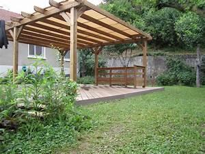 Construire Une Pergola En Bois : construire pergola bois adoss e ~ Premium-room.com Idées de Décoration