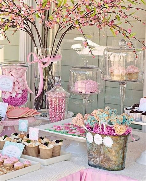 Pink Candy Table  Carolyn's Baby Shower Pinterest