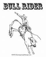 Bull Coloring Pages Rodeo Printable Riding Rider Roping Sheet Cowboy Pbr Unique Team Template Getcolorings Bucking Sheets 8x10 Templates Popular sketch template