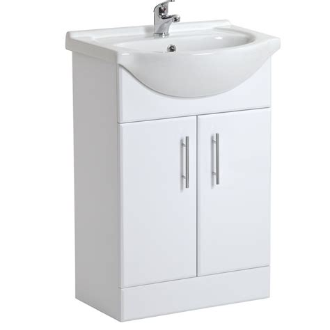 Cheap Bathroom Sink Units by White Gloss Bathroom Vanity Units Basin Sink 550 Cloakroom