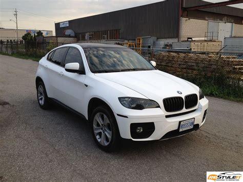 matte white matte white bmw x6 vehicle customization shop vinyl