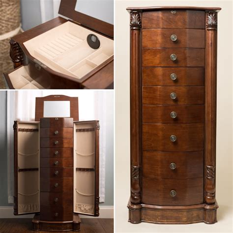 hives and honey jewelry armoire florence jewelry armoire rich walnut hives and honey