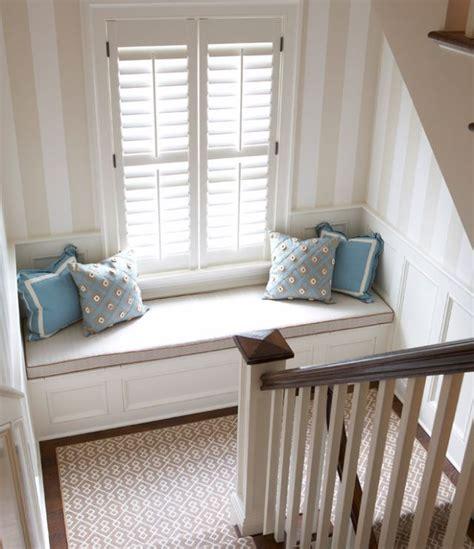 reading nook bench window seat on staircase landing nooks window